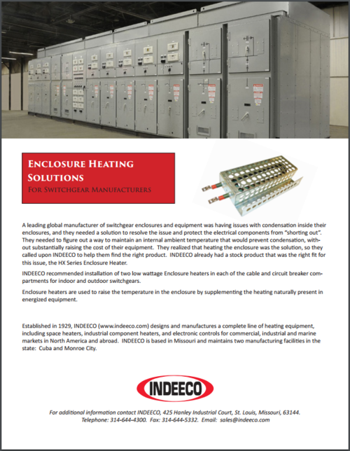 Switchgear Heating Solutions