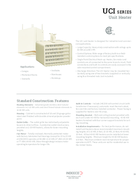 Convector product pages