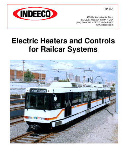 Electric Heaters and Controls  for Railcar Systems