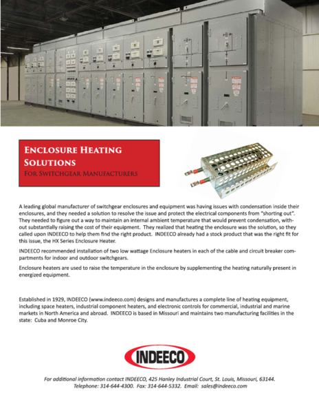Enclosure Heating Solutions
